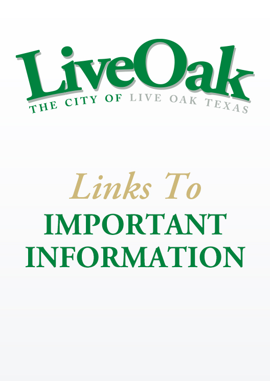 Links to Important Information